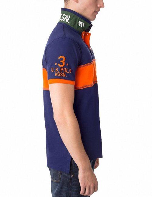 Camiseta Polo US Polo Assn Slim Fit USPA franja azul marino