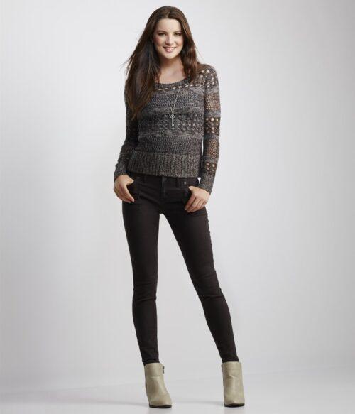 Saco Aeropostale open knit Sweater
