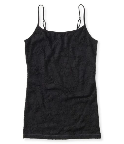 Basica Aeropostale Lace front cami negro