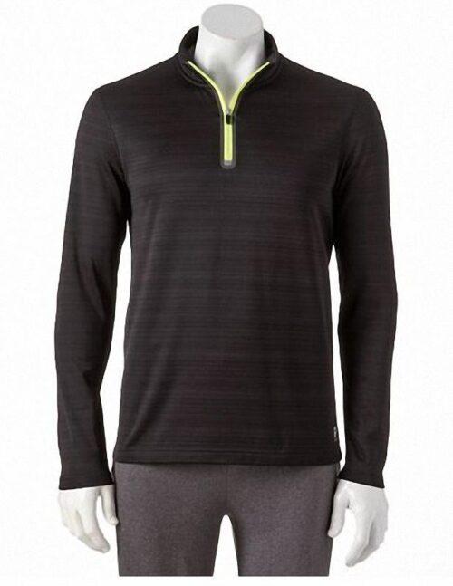 Camiseta Fila Element Quarter-Zip Top negro
