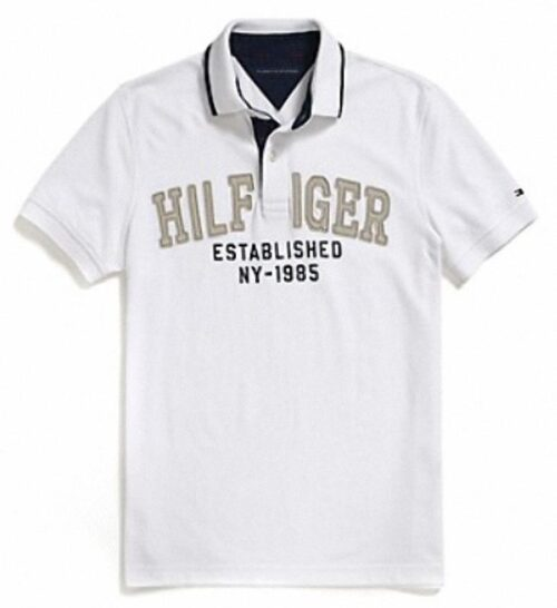 Polo Tommy Hilfiger graphic blanco