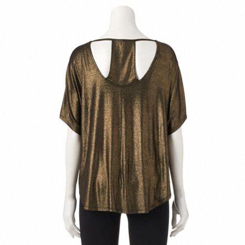 Blusa Juicy Couture Metallic Cuello bandeja
