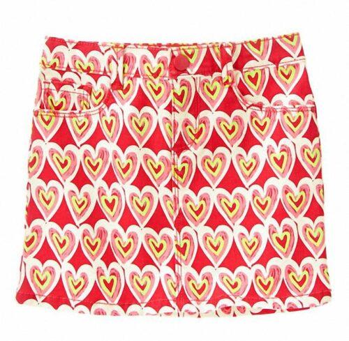 Falda Gymboree Scribble Heart rojo