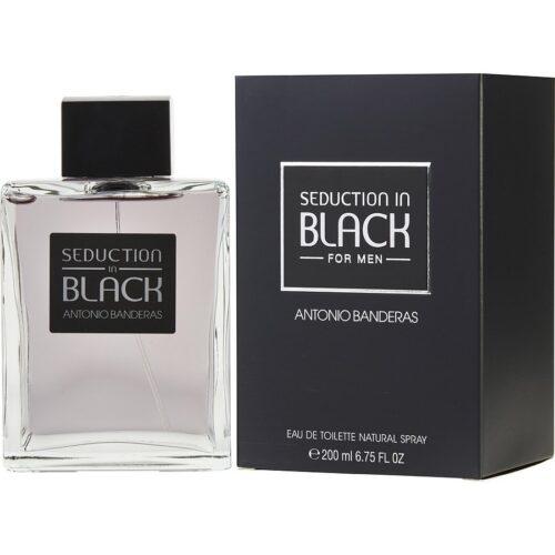 Perfume Seduction in Black de Antonio Banderas para hombre 200ml