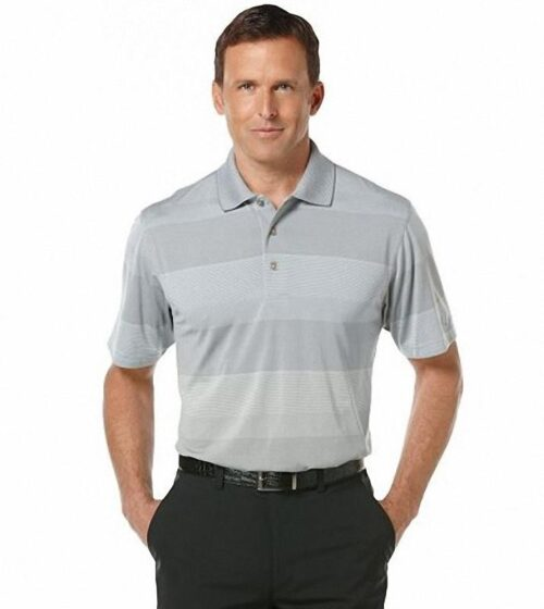 Polo Grand Slam Shadow Striped Classic Fit gris