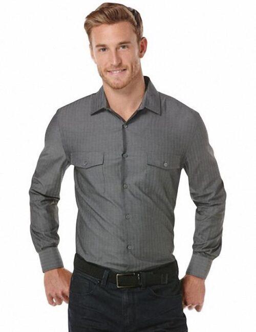 Camisa Perry Ellis Long Sleeve Herringbone