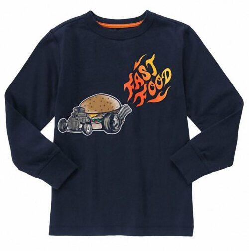 Camiseta Gymboree fast food azul oscuro