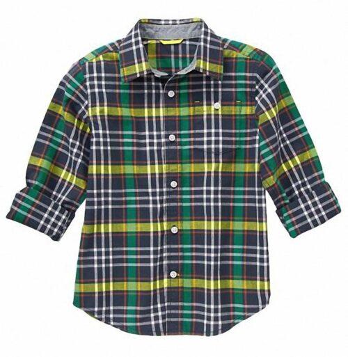 Camisa Gymboree Plaid verde