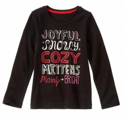 Camiseta Gymboree Cozy Sparkle negro